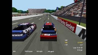 ► NASCAR Racing 2 (1996/DOS) | Martinsville Gameplay