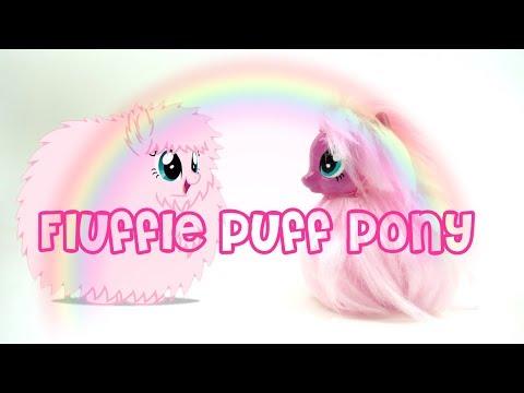 Fluffle Puff Pony Custom My Little Pony Tutorial DIY Yarn Weft