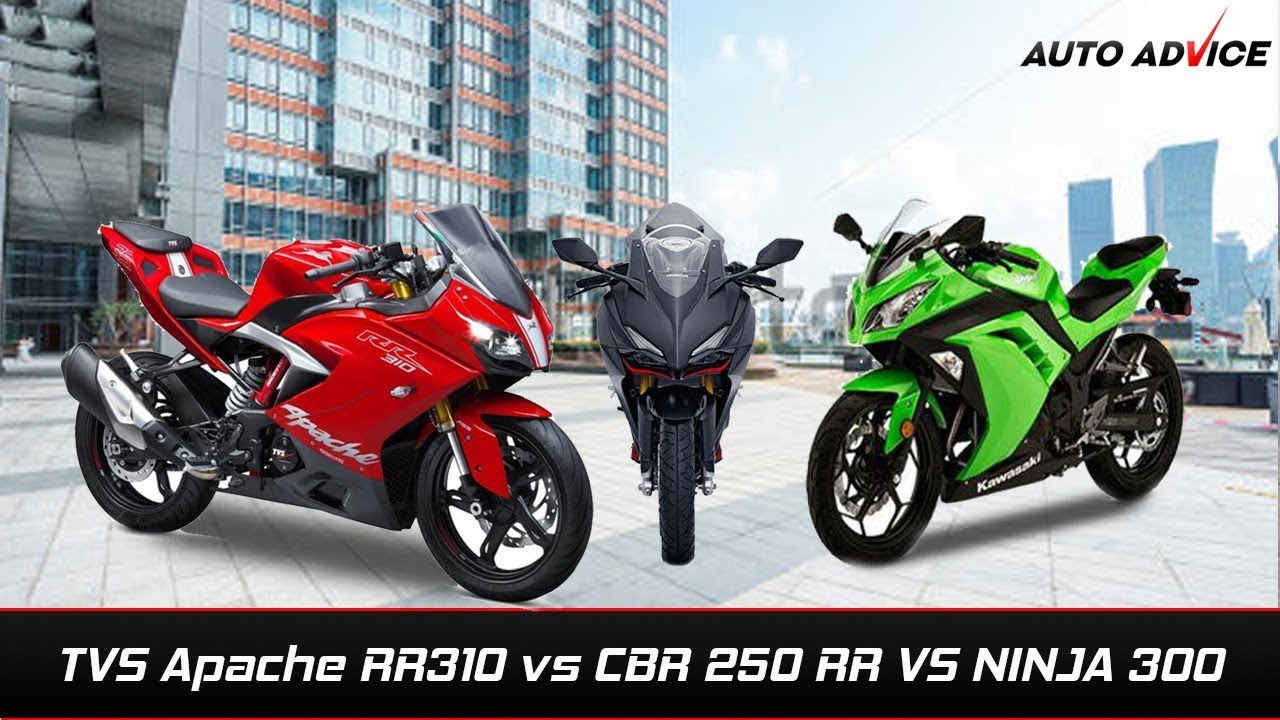 Tvs Apache Rr 310 Vs Honda Cbr 250 Rr Vs Ninja 300 Youtube