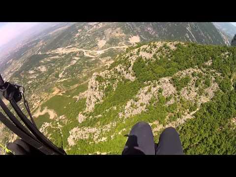 PARAGLIDING OVER DAJTI MOUNTAIN TIRANA-SILIAN ZANI PILOT
