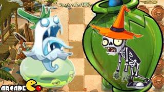 Plants vs zombies 2 ghost pepper vs dark gargantuar halloween zombies
