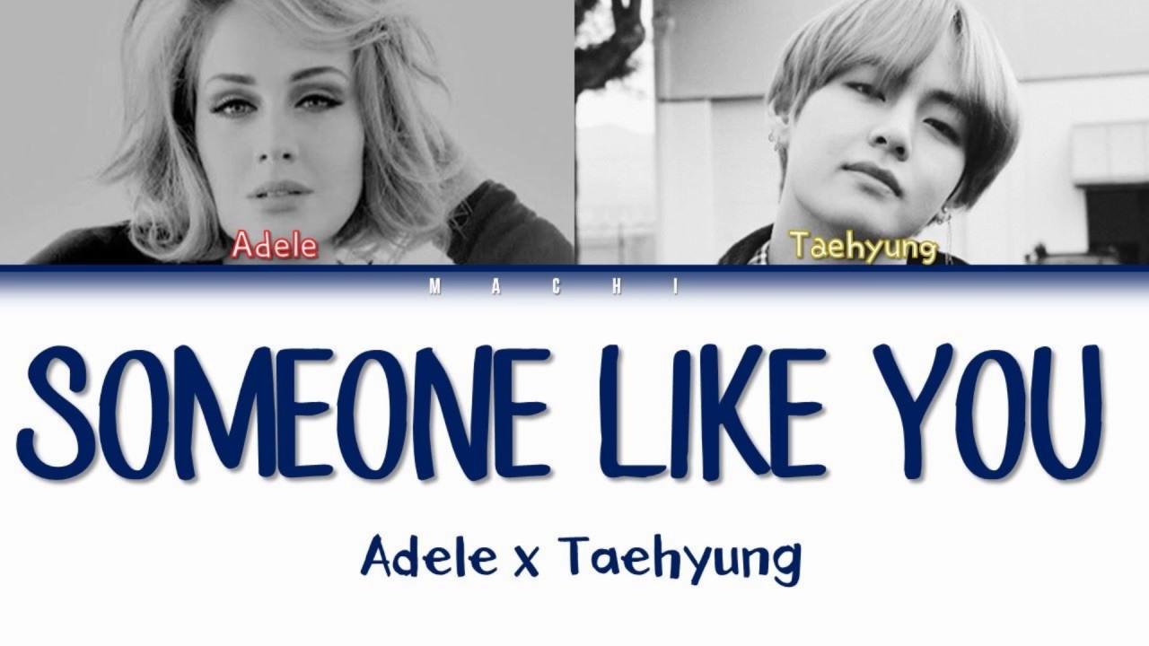 Taehyung (BTS) & Adele - Someone Like you [MASHUP]   Color Coded Lyrics   English