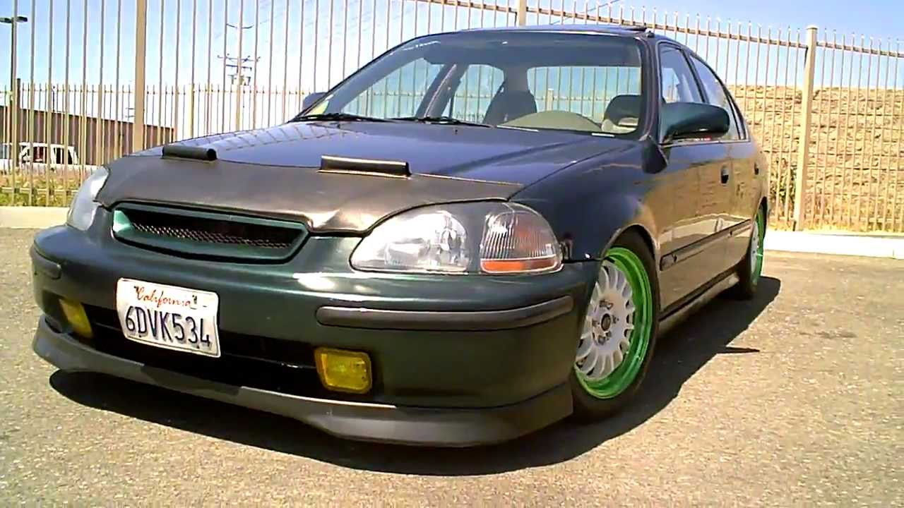 1996 1998 Honda Civic Forest Green Sir Sedan W Infamous