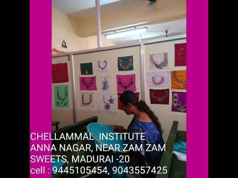 Aari Embroidery Course Best Coaching Chellammal Institute Madurai 9445105454 Youtube
