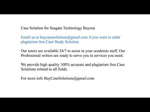 seagate technology buyout pdf