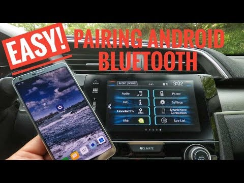 Honda Civic Bluetooth Pairing Android - 2016 2017 2018 2019