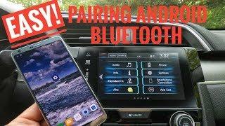 Honda Civic Bluetooth Pairing Android  2016 2017 2018 2019 2020