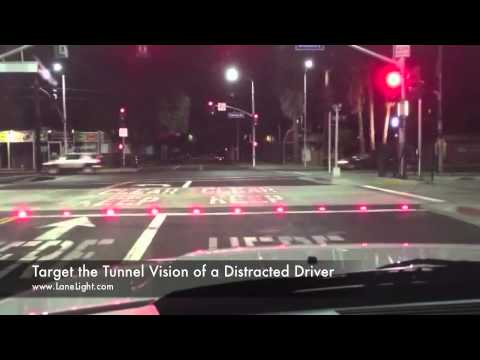 STOP BAR Warning System - RED Light - Designed to target a Distracted Driver's Tunnel Vision