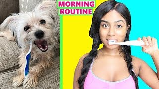 My REAL Morning Routine FT. MY PUPPY
