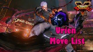 Street Fighter V - Urien Move List