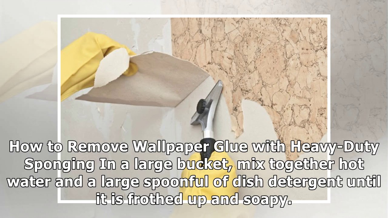 DIY Tips For How To Remove Wallpaper Glue - YouTube