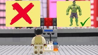 EXPERIMENT: Hulk Superhero Stop motion Optimus Robot Aventure - LEGO IRON MAN