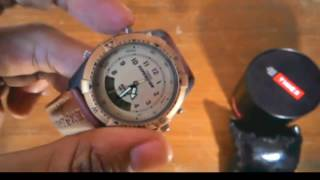 timex expedition analog digital beige dial unisex watch mf13 unboxing and review india