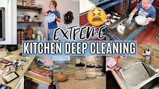 ALL DAY CLEAN WITH ME 2019 | KITCHEN DEEP CLEANING | EXTREME CLEANING MOTIVATION