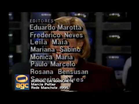 Jornal da Manchete - Marcia Peltier - 1995