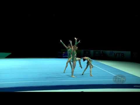 Israel (ISR) - 2018 Acrobatic Worlds, Antwerpen (BEL) - Dynamic  Women's Group
