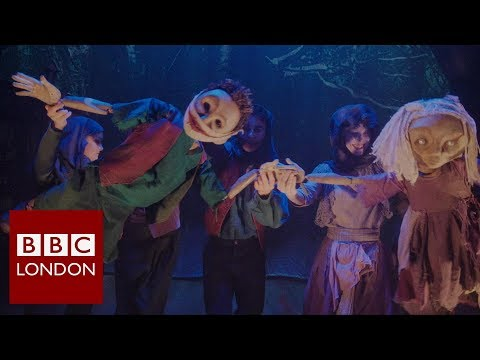 'The Grinning Man' a puppet production from the director of War Horse – BBC London News