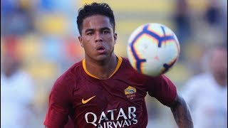 JUSTIN KLUIVERT   AS Roma Debut - YouTube