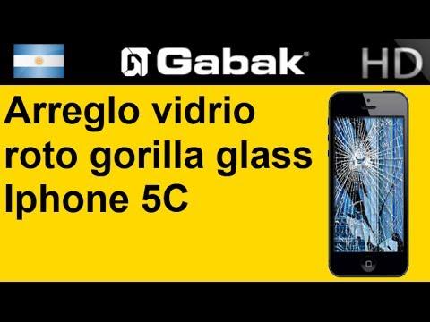 cambio de vidrio gorilla glass iphone 5c