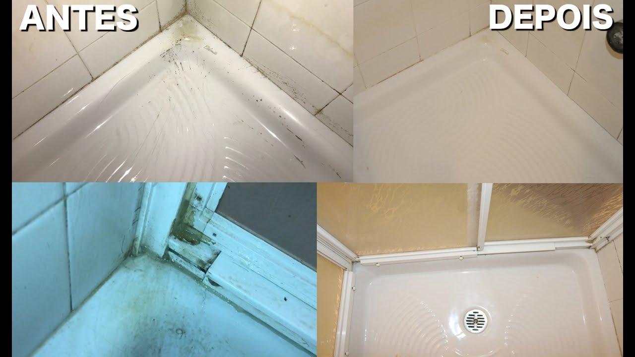 Limpar Banheiro Preto : Como limpar box do banheiro e eliminar mofo facil rapido
