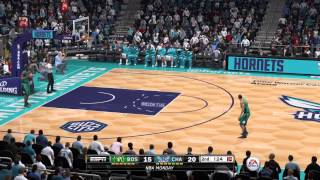 NBA 2015 - Boston Celtics vs Charlotte Hornets - 2nd Qrt - NBA LIVE 15 PS4 - HD
