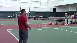 Tua Tagovailoa serves up First Serve at Alabama Tennis