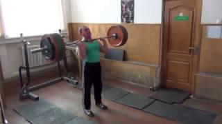 Толчок штанги  Weightlifting 100 кг от рекордсмена мира В.П.Грачева