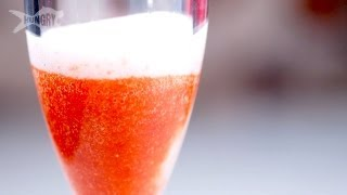 Strawberry Champagne Cocktails - Casserole Queens