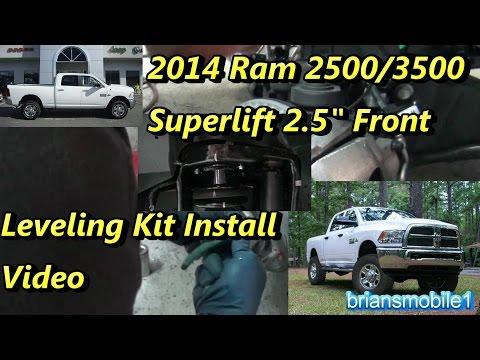 """2014 Ram 2500 2.5"""" Superlift Leveling Kit Install"""