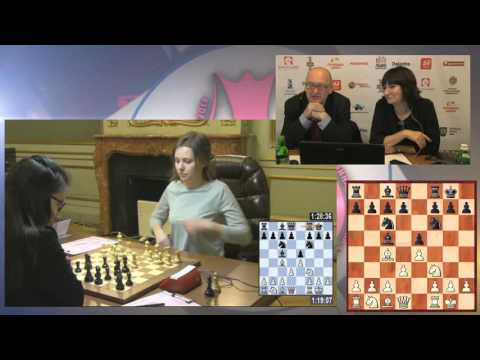 Women's World Chess Championship Match. Round 1.