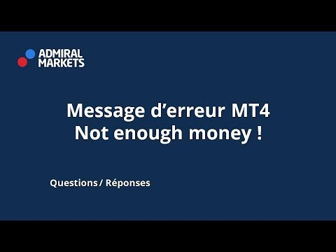 Message D Erreur Mt4 Not Enough Money Youtube