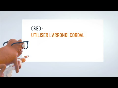 Utiliser l'arrondi cordal dans Creo
