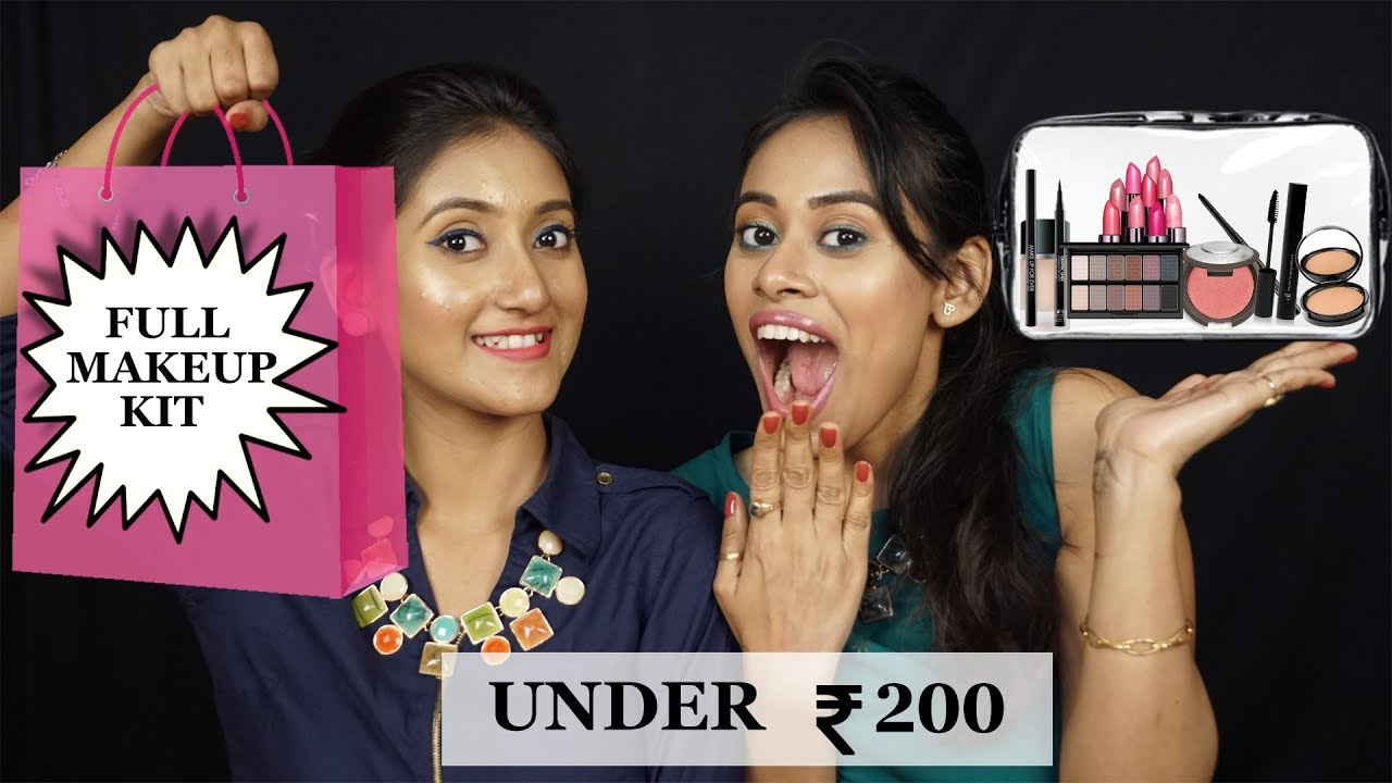 FULL MAKEUP KIT UNDER 200   MAKEUP ESSENTIALS FOR INDIAN SKIN   Glamwand