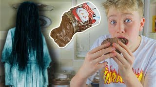NEVER MAKE *EDIBLE SLIME* AT 3AM!! 🍫  *2 INGREDIENTS* 🍫 (NUTELLA SLIME - DANGEROUS!)