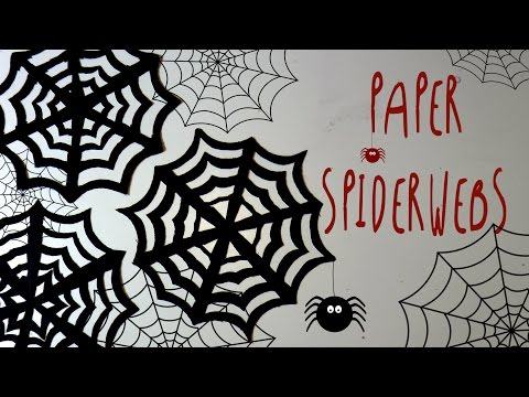 How to make PAPER SPIDERWEBS DIY for Halloween Party * by ART Tv