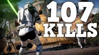 STAR WARS BATTLEFRONT 2 100 KILL GAME: PS4 Pro Battlefront 2 Gameplay