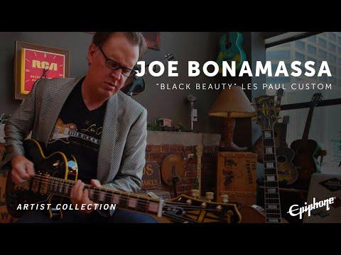 """Epiphone   Joe Bonamassa """"Black Beauty"""" Les Paul Custom"""