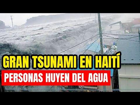¡Alerta De Tsunami! Las Personas Huyen De Haití ¡Esto Pasó Hoy!