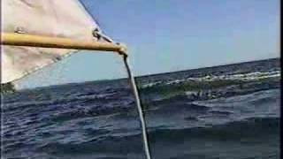 canoe sailing Heriot Bay, Quadra Island, B C, Canada thumbnail
