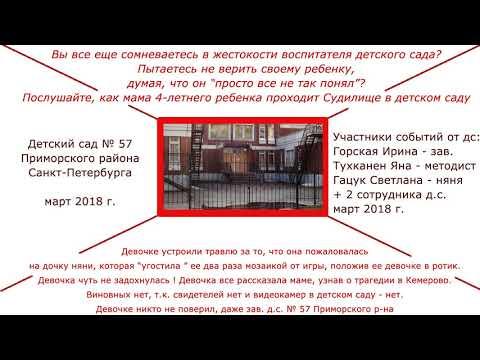 Травля ребенка в детском саду Петербурга. Судилище мамы девочки, рассказавшей правду о жизни в саду