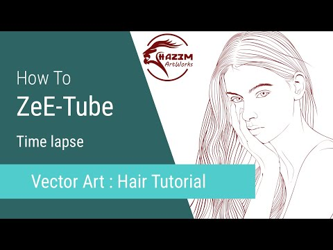Vector Art Tutorial PT-2 Hair Sketch - ZeE-Tube thumbnail