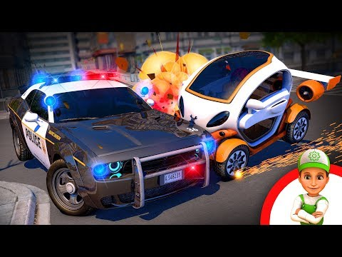 New police car cartoon! Handy Andy and Amy chase Irma. Will they catch her truck? New cartoons 2019
