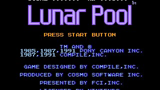 Lunar Pool [NES] - Walkthrough (by Achpile)
