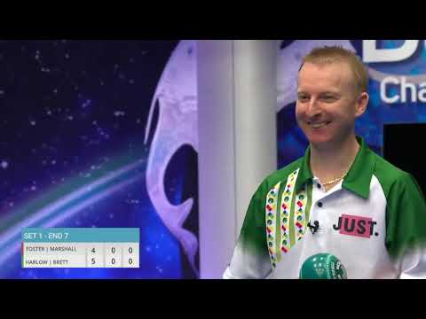 Nick Brett Makes A Brilliant Shot During The World Bowls Tour Pairs Final!