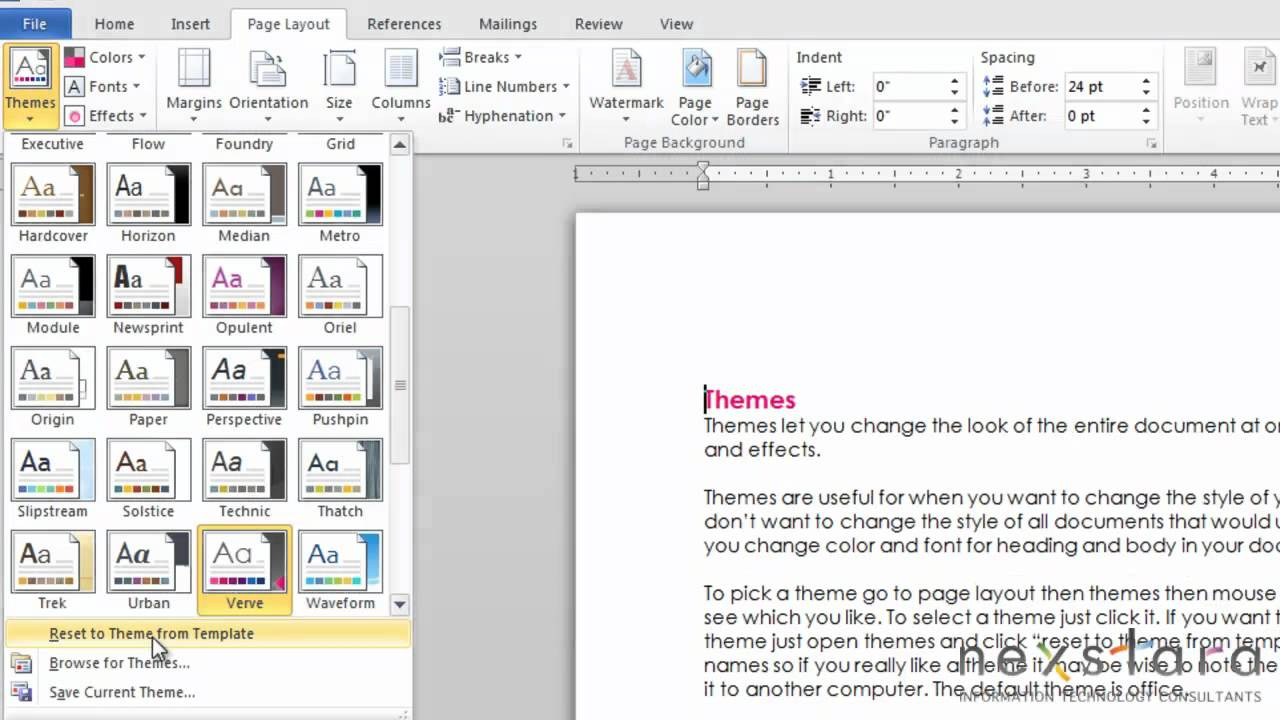 microsoft word user guide lesson fifteen themes microsoft word 2010 user guide lesson fifteen themes