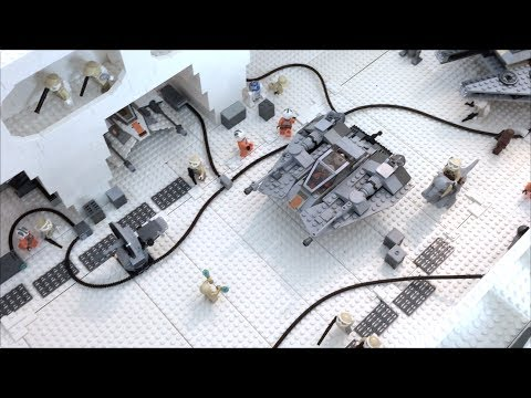LEGO STAR WARS HOTH ECHO BASE BATTLE MOC