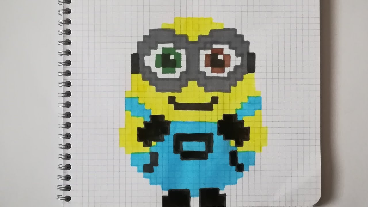 Pixel Art Facile Minion