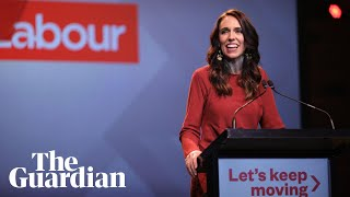 New Zealand's Jacinda Ardern condemns divisive elections in victory speech