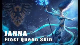 League of Legends: Frost Queen Janna Skin Artwork