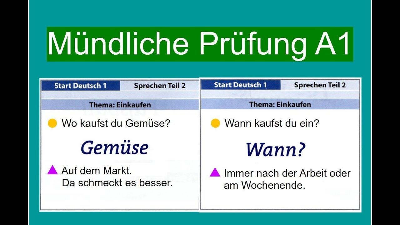 Prüfung a1 deutsch test